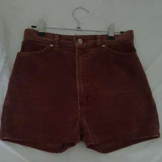 High waisted vintage cord shorts