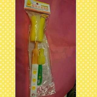 🐥黃色小鴨組合式奶瓶❌simba奶嘴刷