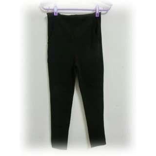 復古黑色高腰褲