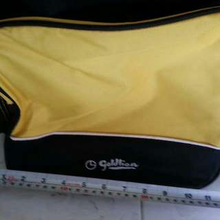 Gold Lion Luggage Bag