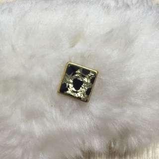 豹紋方耳環