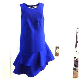 H&M Blue Cobalt Dress Fishtail (Size 32)