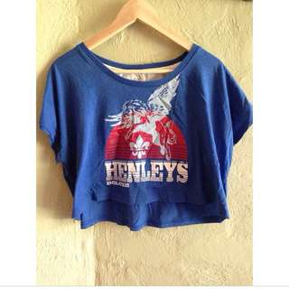 Henley's Cropped Top