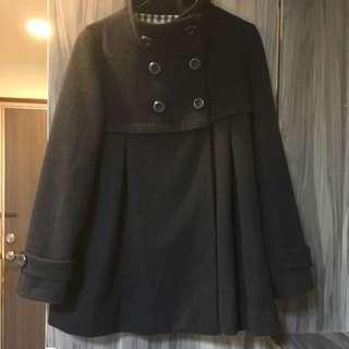 iimk 深藍羊毛大衣