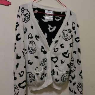 Major Made Ubb 豹紋 針織外套 白色 xs 可愛
