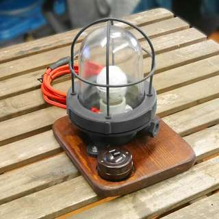 Industrial / Retro / Handmade Side Table Lamp