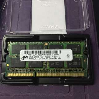 2Gb PC3-8500S Laptop Ram Micron