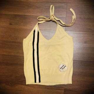 Yellow Halter Neck Top