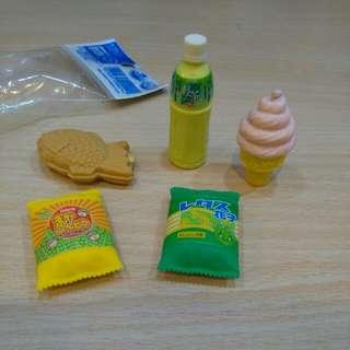 造型塑膠擦(5個一組不拆售)
