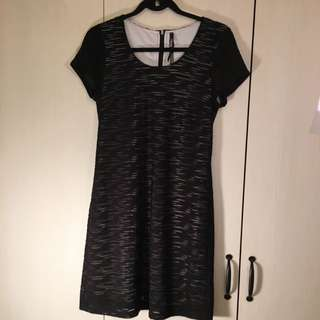 Marc New York Black Striped Dress