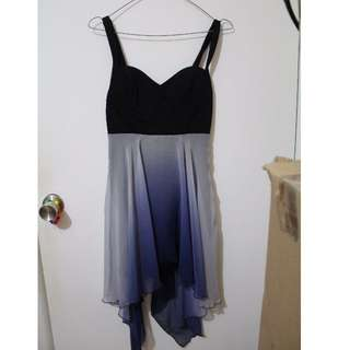 Black & Blue gradient formal dress