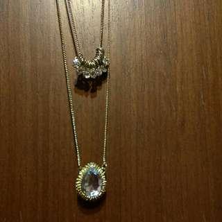 寶石多鑽長項鍊#毛衣鍊
