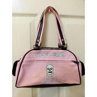 🚚 二手 > 粉紅龐克手提包