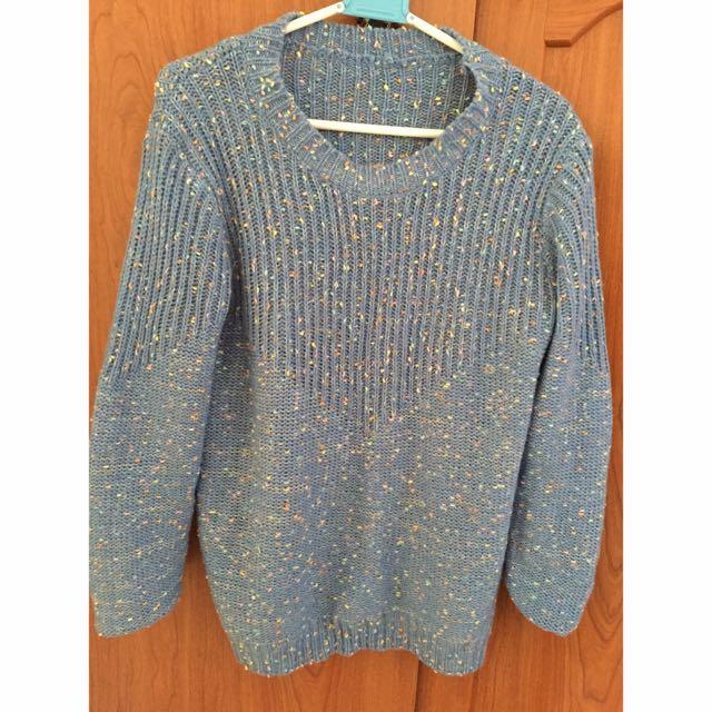 🎈藍色彩色點點毛衣
