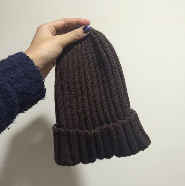 栗子色毛帽