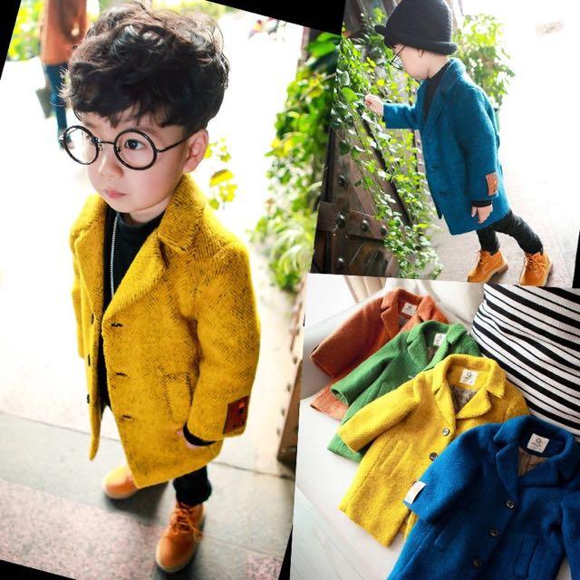 寶貝區❤️現貨‼️韓版大衣 秋冬外套 寶寶風衣❤️