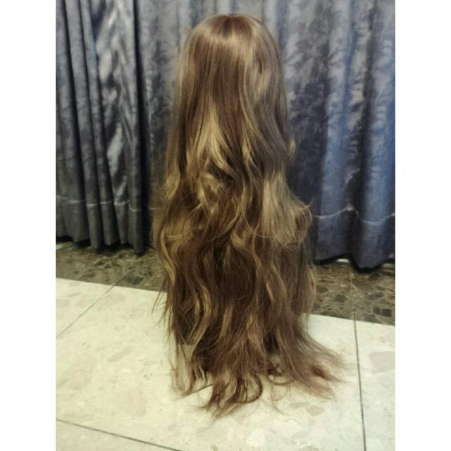 假髮 長捲髮 浪漫微捲氣質假髮 淺棕色A25