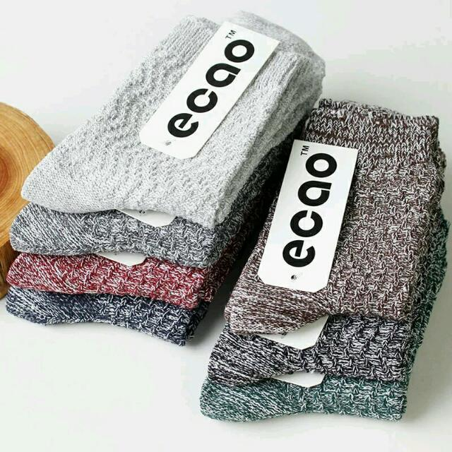中筒編織棉襪 復古 潮流 文青 實搭