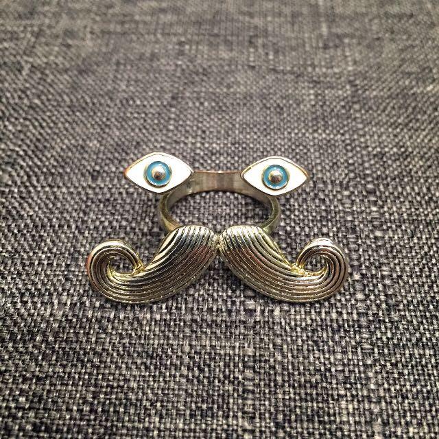 ✨含運✨造型 戒指 (眼睛 & 鬍子)