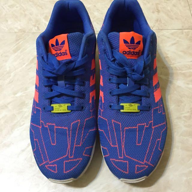 Adidas ZX FLUX WEAVE 紫橘色 27cm