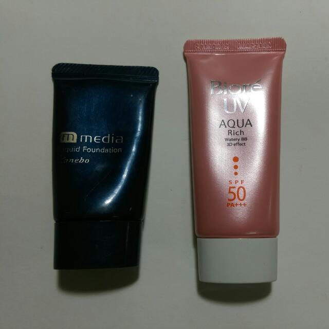 媚點白皙肌粉底液/Biore UV BB霜 (含運費)
