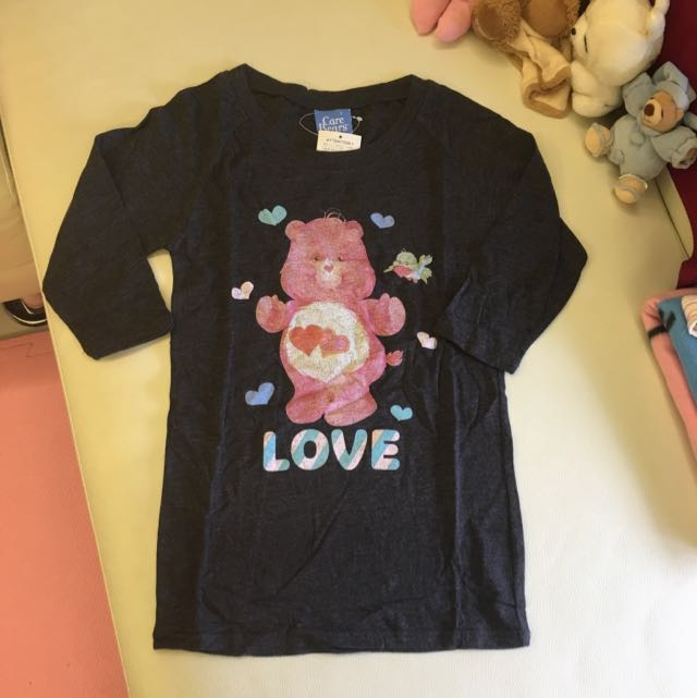 全新日本購入Care Bears七分袖T恤