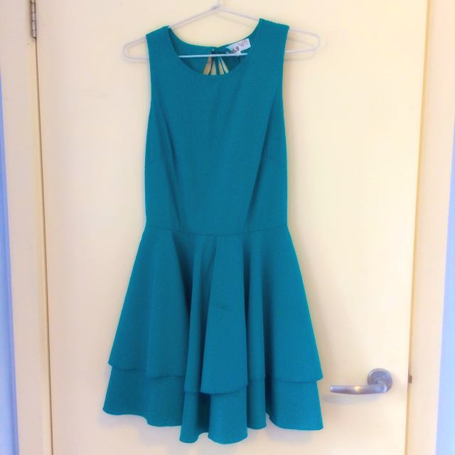 Green I.d.s Open Back Dress