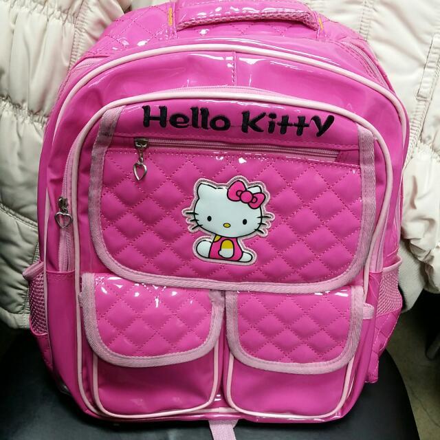 Hello Kitty 書包 背包 粉紅色 防水 小瑕疵 便宜賣出 可換物
