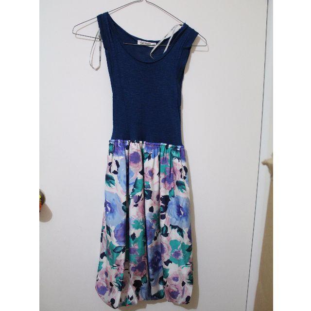 Navy & floral dress