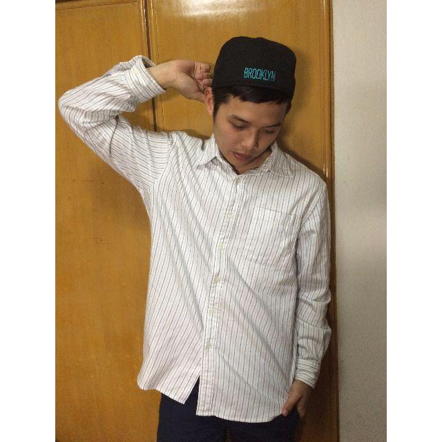 二手NET藍色條紋襯衫