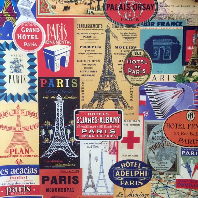 Set Of 3 Vintage Style Paris Posters