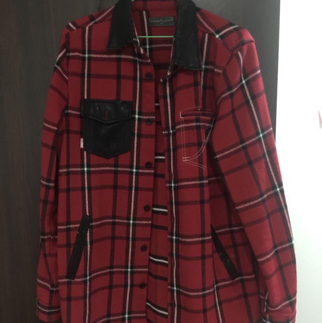 Stage紅格子襯衫