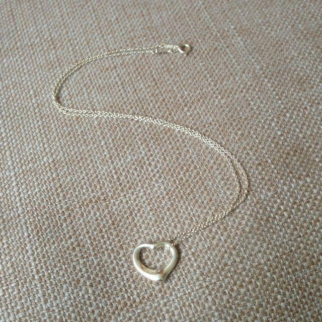 正品二Tiffany Open Heart項鍊