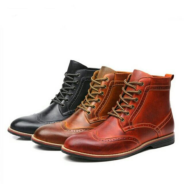 Vintage Men Winter Boots Warm Winter