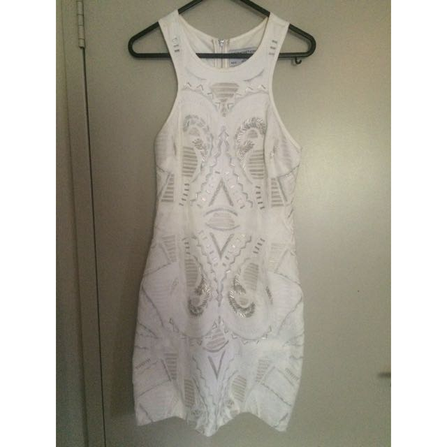 White Sequence Dress. Premonitions Design.