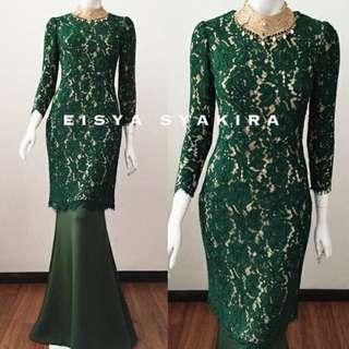 Emerald Green Kurung Moden