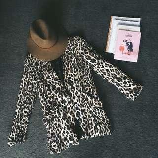 Cotton On Leopard Print Blazer