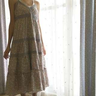 碎花長裙洋裝