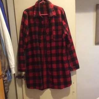 紅格子襯衫