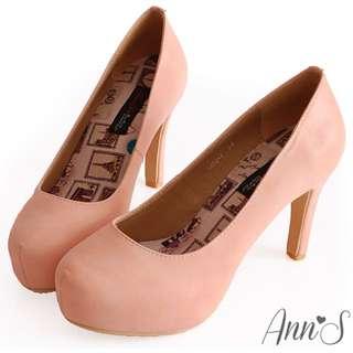 「含運」Ann's 夢幻巴黎澎澎軟墊跟鞋 粉 37 Air Space Grace Gift Amai Pazzo Meier Q