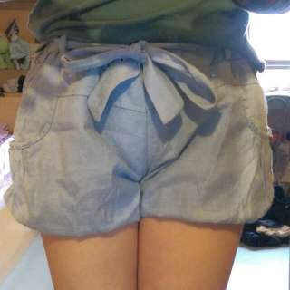 俏皮腰帶燈籠褲