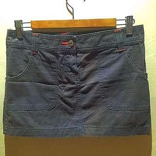 MANGO Mini Skirt in Grey. Size US4
