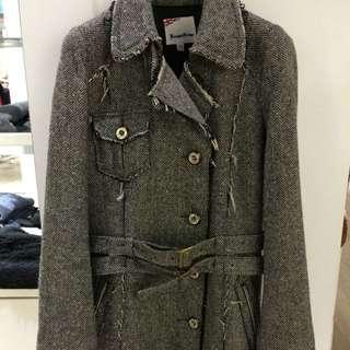 Kb學院風正版毛料外套