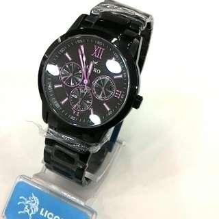 MIRRO-三眼運動休閒錶-時尚紫