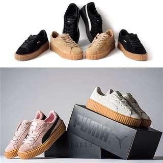 ❤️新款蕾哈娜聯名同款運動真皮厚底鞋