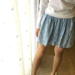 牛仔布星星短裙