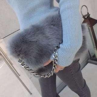 ❤️私物收藏 時髦百搭可愛毛絨鍊條包