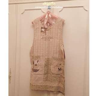 (全新)日本雜貨.布藝手作風圍裙