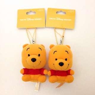 🇯🇵日本東京 迪士尼樂園限定 玩偶 吊飾 維尼 小熊維尼