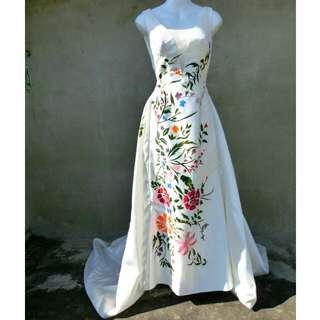 類手繪特色白色大拖尾婚紗 自助婚紗 婚禮 39